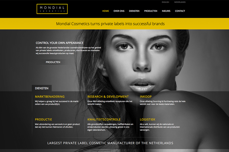 website Mondial Cosmetics